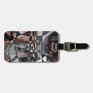 Abstract graffiti tag for luggage