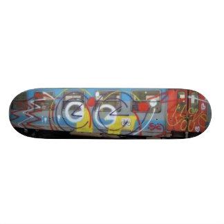 Abstract Graffiti Train Skate Board