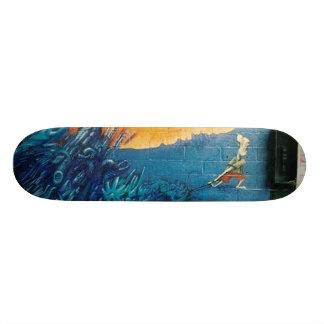 Abstract Graffiti Wall 2.0 Skate Board