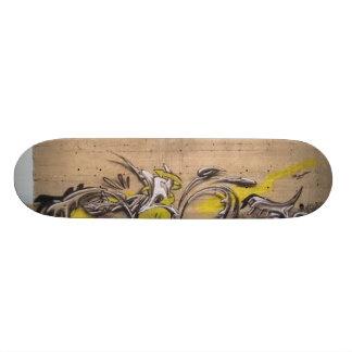 Abstract Graffiti Wall Skate Board
