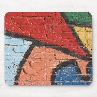 Abstract Graffitti wall Mouse Pad