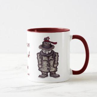 Abstract graphic art poet cool mug design