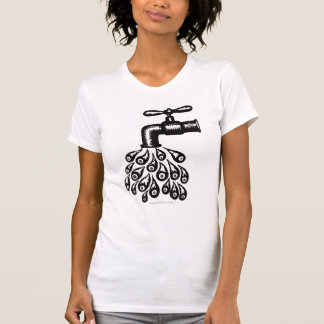 Abstract graphic art running water cool t-shirt