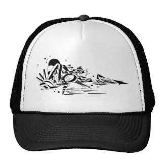 Abstract graphic customized hat truck hat