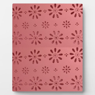 Abstract Graphic Flowers Floral Template add TEXT Plaque