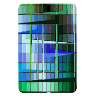 Abstract Graphic Lines Rectangle Magnets