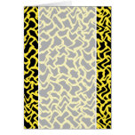Abstract Graphic Pattern Black and Bright Yellow. Cards