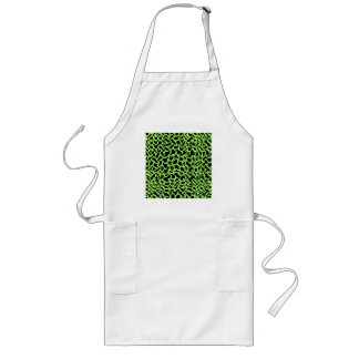 Abstract Graphic Pattern Black and Lime Green. Aprons