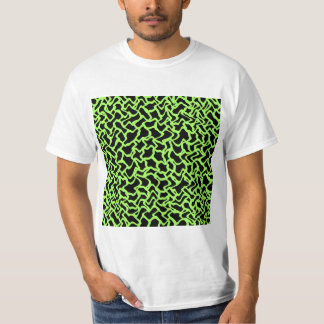 Abstract Graphic Pattern Black and Lime Green. Shirt