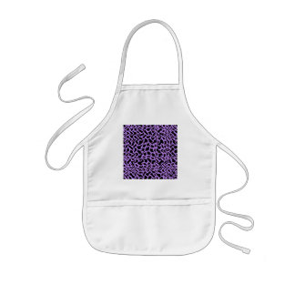 Abstract Graphic Pattern Black and Purple. Aprons