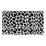 Abstract Graphic Pattern Black and White. Business Card Templates