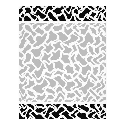 Abstract Graphic Pattern Black and White. Full Color Flyer