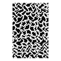 Abstract Graphic Pattern Black and White. Flyer