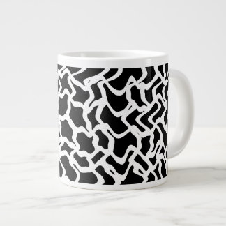Abstract Graphic Pattern Black and White. Giant Coffee Mug