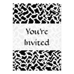 Abstract Graphic Pattern Black and White. Personalized Announcements