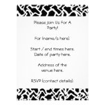 Abstract Graphic Pattern Black and White. Invitations