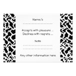 Abstract Graphic Pattern Black and White. Invites