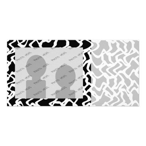 Abstract Graphic Pattern Black and White. Photo Card