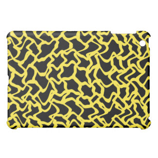 Abstract Graphic Pern Black and Bright Yellow iPad Mini Case