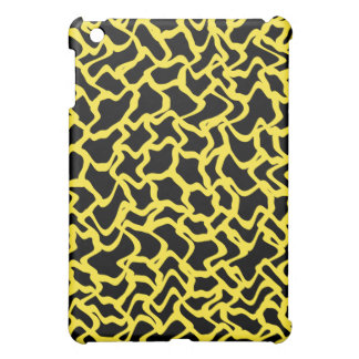 Abstract Graphic Pern Black and Bright Yellow Cover For The iPad Mini