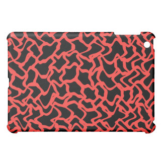 Abstract Graphic Pern Bright Red and Black iPad Mini Cover