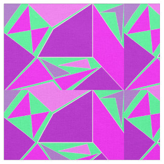 Abstract graphic - purple green design fabric