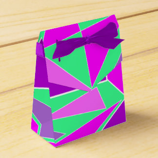 Abstract graphic - purple green design favor box