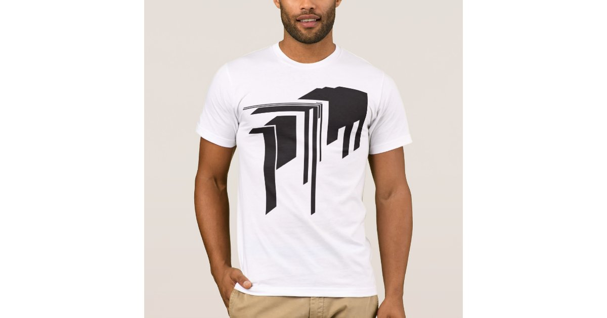Abstract graphic squareart custom t shirt zazzle for Zazzle custom t shirts