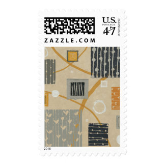 Abstract Graphic Tiles Stamp