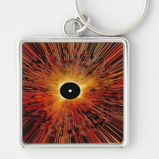 Abstract Graphics Keychain