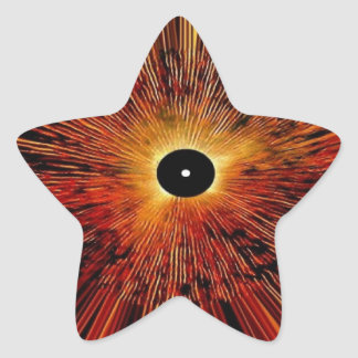 Abstract Graphics Star Sticker