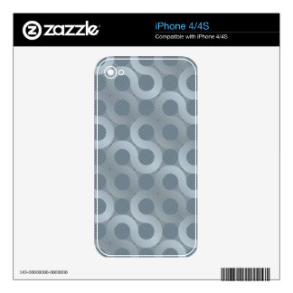 Abstract gray flow background skin for the iPhone 4S