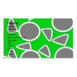 Abstract gray on green flowers Double-Sided standard business cards (Pack of 100)