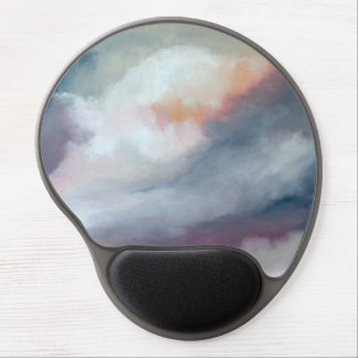 Abstract Gray with Pink Gel Mouse Pad