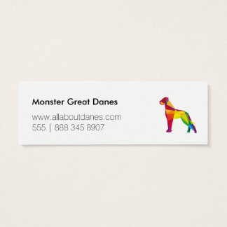 Abstract Great Dane Mini Business Card