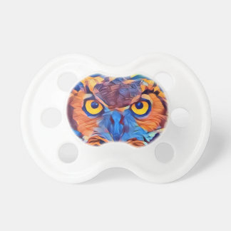 Abstract Great Horned Owl Pacifier