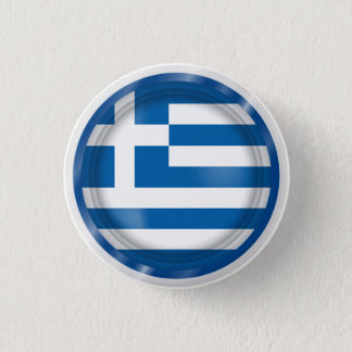 Abstract Greece Flag, Greek Artwork Button