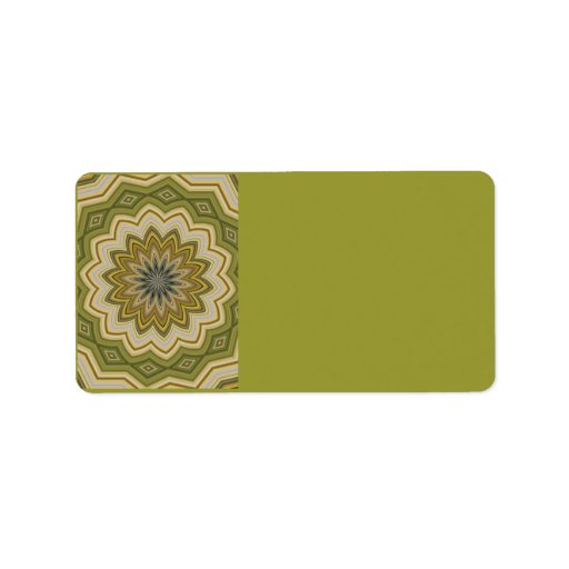 Abstract Green Address Label