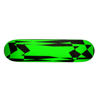 ABSTRACT GREEN AND BLACK SKATE BOARDS