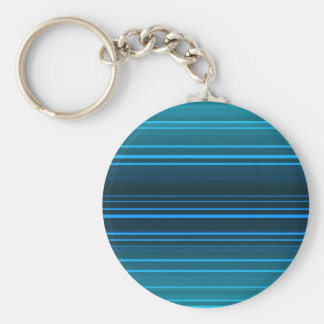 Abstract green and blue horizontal lines basic round button keychain