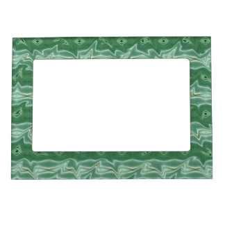 Abstract Green And Gray Fantasy Magnetic Frame