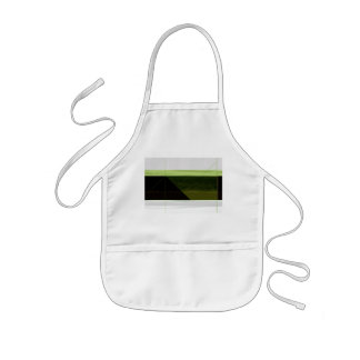 Abstract Green and white Kids' Apron