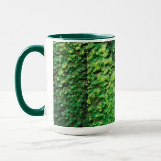 Abstract Green and Yellow Mug