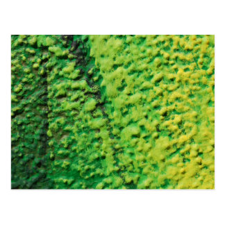 Abstract Green and Yellow Postcard