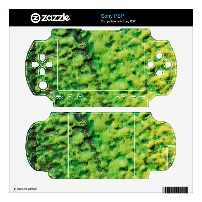 Abstract Green and Yellow PSP Decals