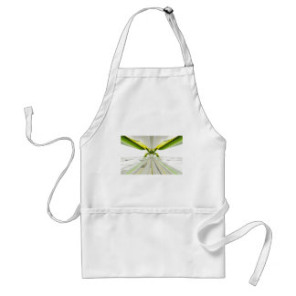 Abstract Green and Yellow Shapes Adult Apron