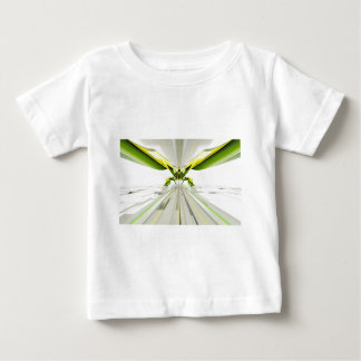 Abstract Green and Yellow Shapes Baby T-Shirt
