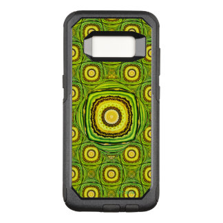 Abstract Green And Yellow Shell Like Design OtterBox Commuter Samsung Galaxy S8 Case