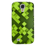 abstract green background galaxy s4 cover