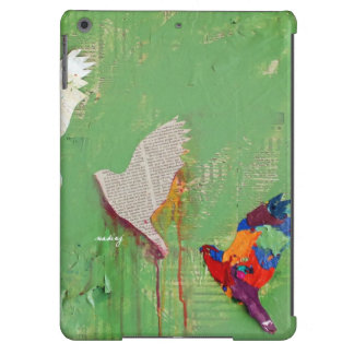 Abstract Green Birds Case Cover For iPad Air